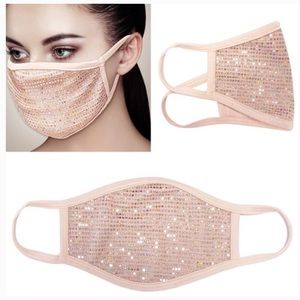 In Stock! New! Rose Gold Hologram Sequin FaceMask